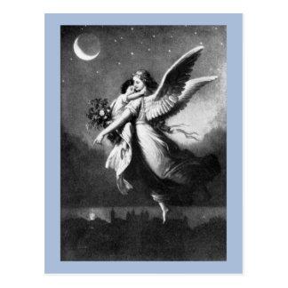 Guardian Angel At Night Postcard