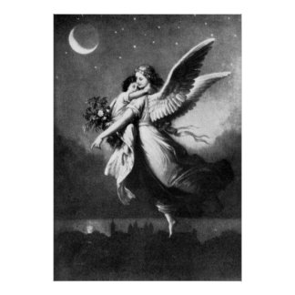 Guardian Angel At Night Poster