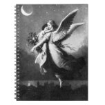 Guardian Angel At Night Spiral Notebook