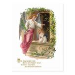 Guardian angel at the window postcard
