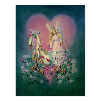 GUARDIAN ANGEL & BABY by SHARON SHARPE Postcard