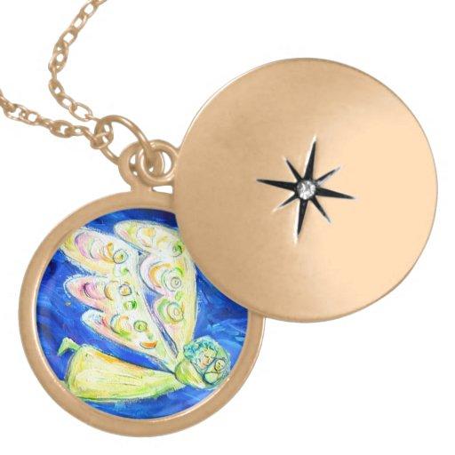Guardian Angel Baby Charm Necklace Jewelry