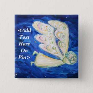 Guardian Angel & Baby Custom Button Message