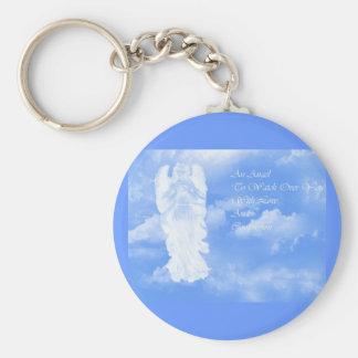Guardian Angel Basic Round Button Keychain