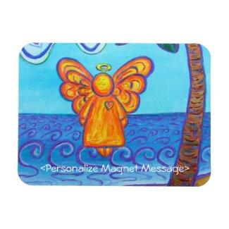 Guardian Angel Beach Art Custom Rectangle Magnets