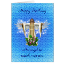 Guardian Angel Birthday Card