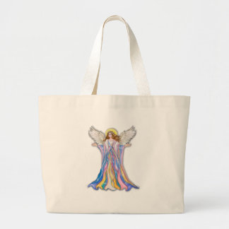 Guardian Angel Blessing Large Tote Bag
