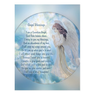 Guardian Angel Blessings Postcard
