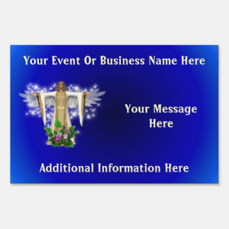 Guardian Angel Business Or Event Yard Sign