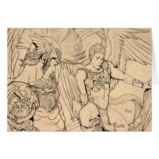 Guardian Angel by Joe Phillips Greeting Card