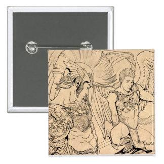Guardian Angel by Joe Phillips Pinback Buttons
