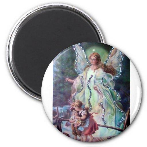 GUARDIAN ANGEL c. 1900 Fridge Magnet