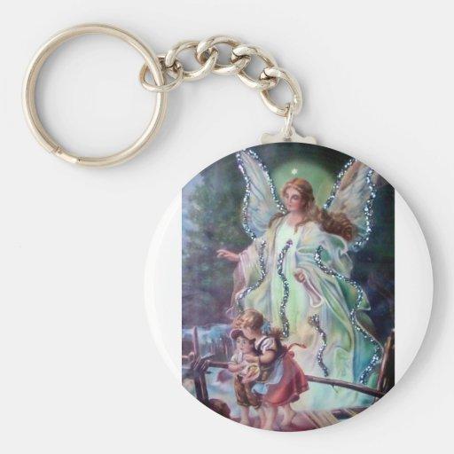GUARDIAN ANGEL c. 1900 Keychain