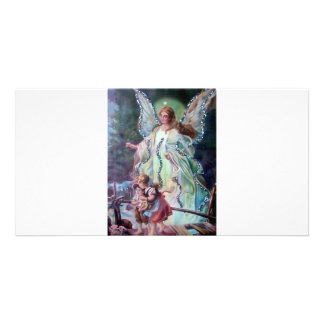 GUARDIAN ANGEL c. 1900 Personalized Photo Card