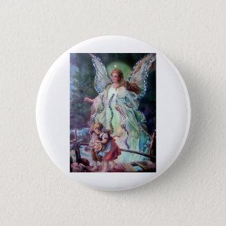 GUARDIAN ANGEL c. 1900 Pinback Button
