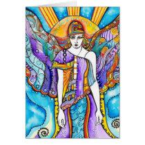 artsprojekt, sky, angel, guardian, heaven, inspiring, faith, bible, archangel, seraphin, portrait, fantasy, guide, arte, illustration, inspirational, design, artistic, spirit, original, Card with custom graphic design