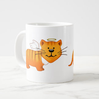 Guardian Angel Cat Large Coffee Mug