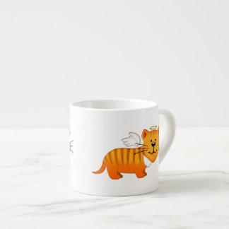 Guardian Angel Cat 6 Oz Ceramic Espresso Cup