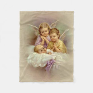 Guardian Angel Cherubs baby in Cloud Fleece Blanket