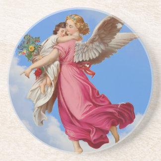 Guardian Angel Child Vintage Art Coaster