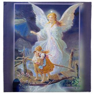 Guardian Angel, Children and Bridge Cloth Napkin