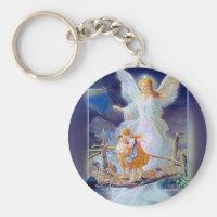 Guardian Angel, Children and Bridge Keychain