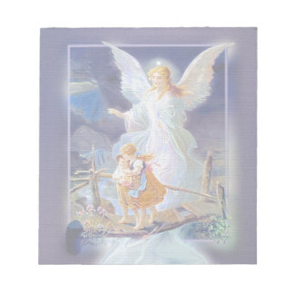 Guardian Angel, Children and Bridge Notepad