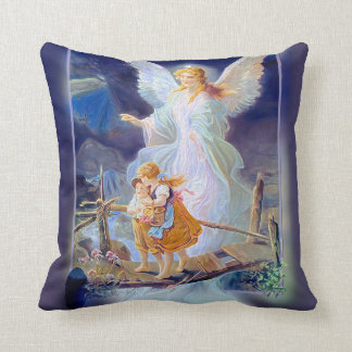Guardian Angel, Children and Bridge Pillows