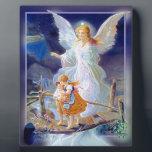 """Guardian Angel, Children and Bridge Plaque<br><div class=""""desc"""">Guardian Angel,  Children and Bridge</div>"""