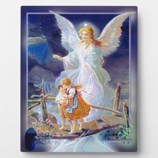 Guardian Angel Children And Bridge Plaque Zazzlecom