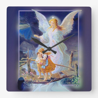 Guardian Angel, Children and Bridge Square Wall Clock