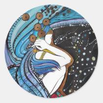 artsprojekt, sky, angel, guardian, heaven, inspiring, faith, bible, archangel, seraphin, portrait, fantasy, guide, arte, illustration, inspirational, design, artistic, spirit, original, Sticker with custom graphic design