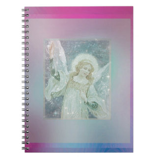 Guardian Angel Collage by Amelia Carrie Spiral Notebook