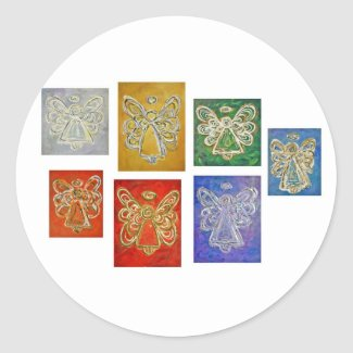 Guardian Angel Color Series Art Custom Stickers