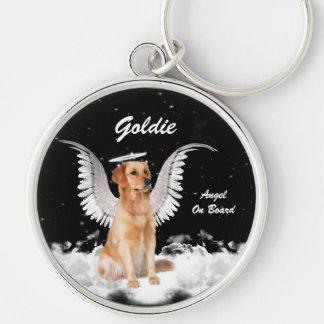 Guardian Angel Dog Golden Retriever Keychain
