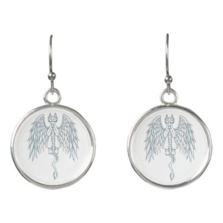 Guardian Angel Dragon Earrings