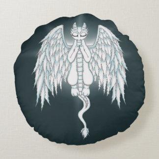 Guardian Angel Dragon Round Pillow