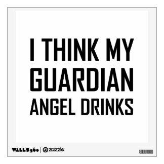Guardian Angel Drinks Wall Decal