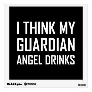 Guardian Angel Drinks Wall Sticker