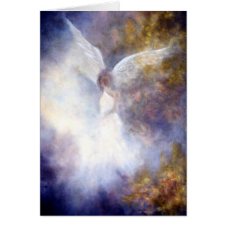 """Guardian Angel"" Fine Art Greeting Card"