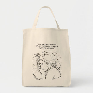 Guardian angel for Mom Tote Bag