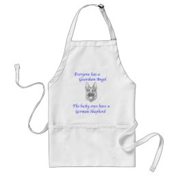 GUARDIAN ANGEL GERMAN SHEPHERD ADULT APRON