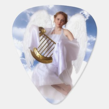 Guardian Angel Guitar Pick by Touch_of_Caring at Zazzle
