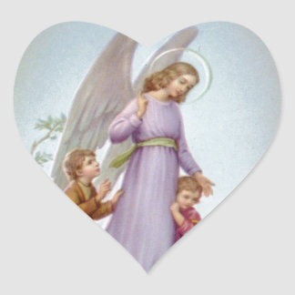 Guardian Angel Heart Sticker