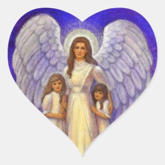 Guardian Angel Heart Sticker