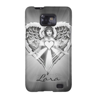 Guardian Angel Heart Wing Design Samsung Galaxy S2 Case