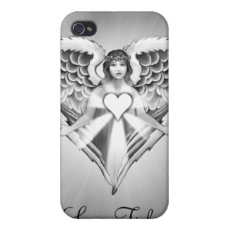 Guardian Angel Heart Wing Design Case For iPhone 4