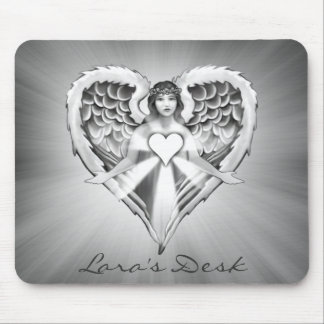 Guardian Angel Heart Wing Design) Mouse Pad