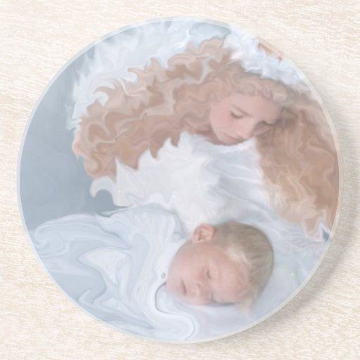 Guardian Angel Holiday Drink Coaster