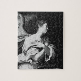 Guardian Angel in Black and White Puzzle